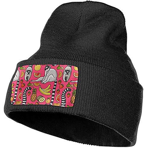 Dale Hill Niedlicher Cartoon-Maki-Tropische einfache Stulpe-ernste Art-Beanie-Hut-Schädel-klobige Stulpe-Hüte
