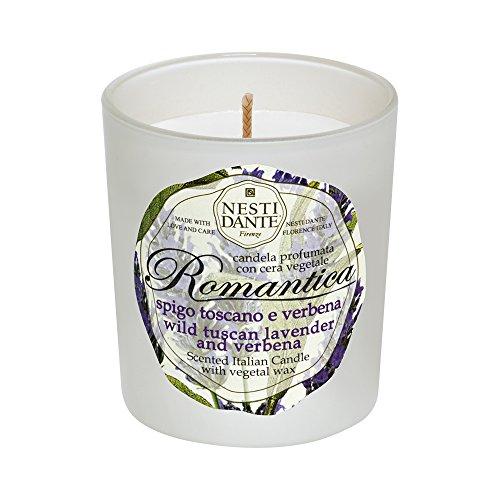 Nesti Dante Vela Perfumada Romântica Lavanda Toscana e Verbena, Branco