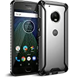 Poetic Affinity Slim Fit Moto G5 Plus Clear Case with Anti-Slip Side Grip and Reinforced Corner Protection Bumper for Motorola Moto G5 Plus (2017) Black/Clear