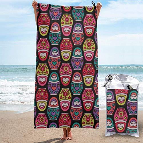 hotspu Microfibre Cooling Towel, Cooling Sports Towel For Travel, Beach, Gym, Camping, Swimming, Yoga, Russian Nesting Dolls Matryoshka Doll Babushka Dolly - Quick Dry, Lightweight