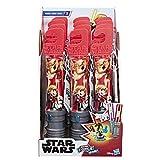 Star Wars Micro Force Wow! 4er-Set mit Minisammelfiguren für Kids mit 2 Charakter Aufklebern in Lichtschwert-Verpackung
