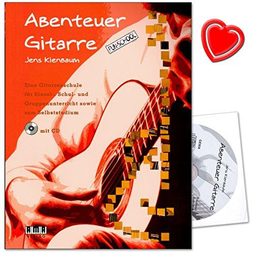 Abenteuer Gitarre - Eine Gitarrenschule für Einzel-, Schul- und Gruppenunterricht sowie zum Selbststudium von Jens Kienbaum mit CD und herzförmiger Notenklammer