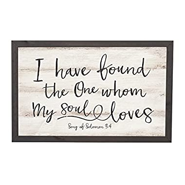 I Have Found The One Soul Loves 18 x 11 Inch Solid Pine Wood Farmhouse Frame Wall Plaque