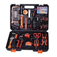 【DAILY PRACTICAL USE】This tool kit contains most used tools for small crafts, daily home repair and maintenance jobs, such as replacing screws, turning nuts, stripping wire, grabbing, holding, rotating, bending, this set has all the tools you'll ever...