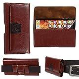 Gorilla Tech Brown Leather Belt Pouch Case Holster,