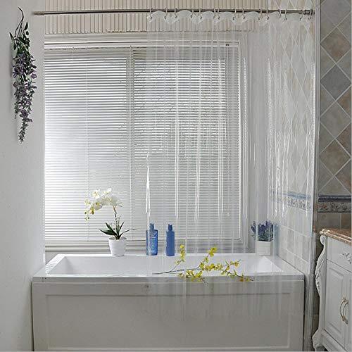 CDFD Waterdicht Transparant DouchegordijnWit Helder Badkamer Gordijn Bad Gordijn Met Haken Plastic Polyester, 180 * 180cm