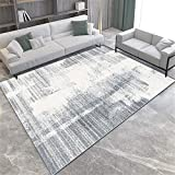 Alfombras Alfombra Pasillo Alfombra Lavable con diseño de Rayas Gris Crema fácil de Limpiar chimeneas de Decoracion alfombras pasilleras 80*150CM