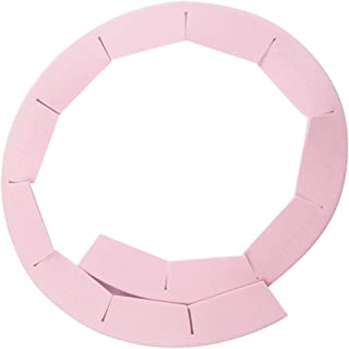 Hli-Shjhsmu Adjustable Silicone Pie Crust Shield Silicone Fit 8.5-11.5Inch Rimmed Dish Home Improvement (Pink)