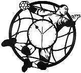 WTTA Handball Vinyle Horloge Murale-rétro Vinyle Disque Horloge Murale décoration de la Maison-avec_LED_Light