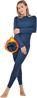 qualidyne Women's Thermal Underwear Ultra-Soft Base Layer Long Johns Set Winter Sports Top and Bottom Suits
