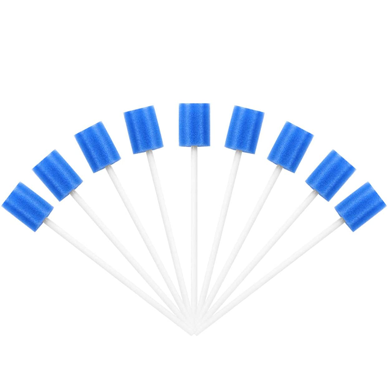 噛む伝記ハイランドHEALLILY 口腔スワブ200個使い捨て口腔スポンジスティック歯のケアスポンジ歯のクリーニングスポンジスワブ男性と女性の歯の口腔洗浄(青)