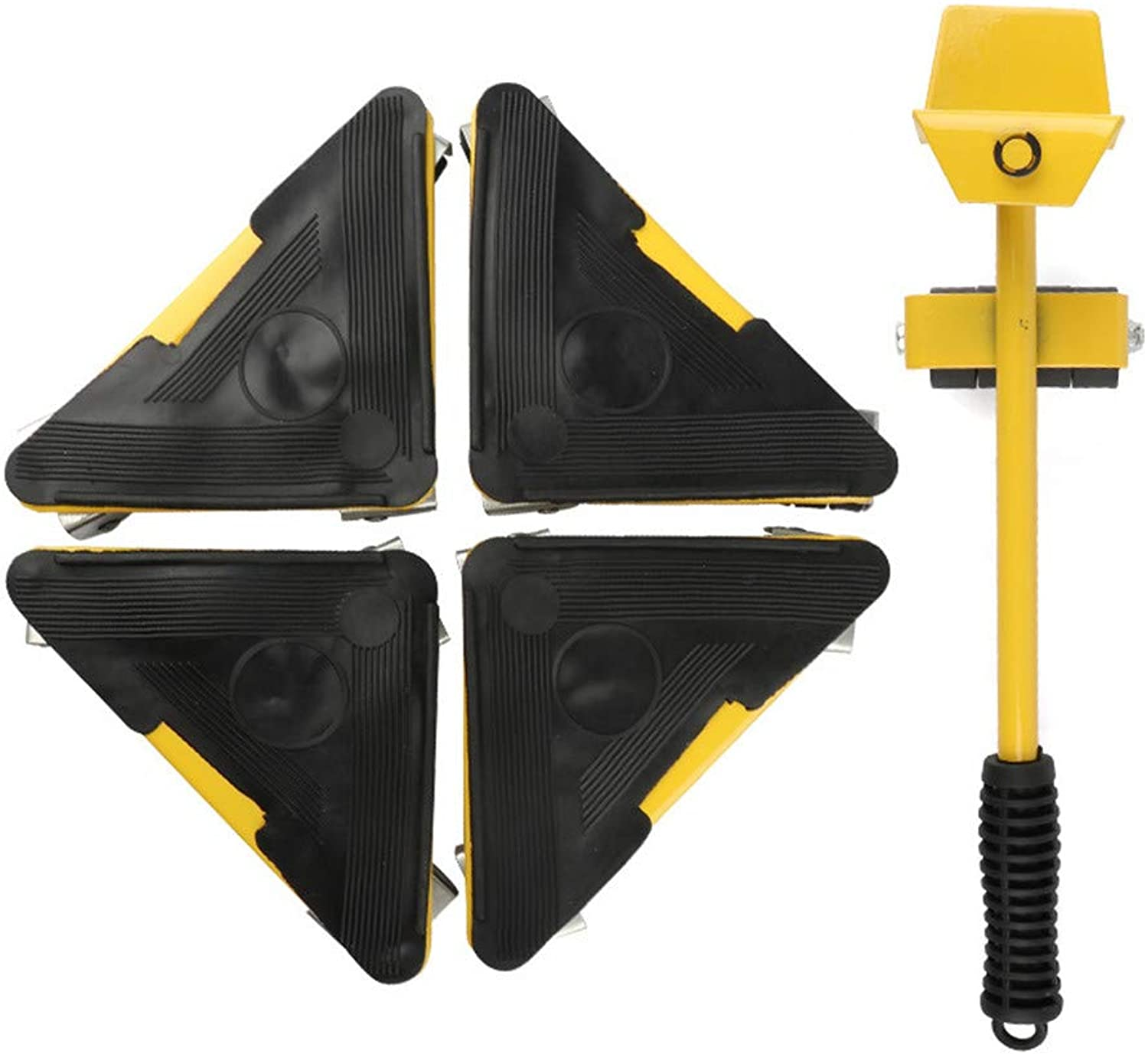 Heavy Object Mover Labor-Saving handling Tool Universal Wheel Mover Triangle Iron 5 Piece Set