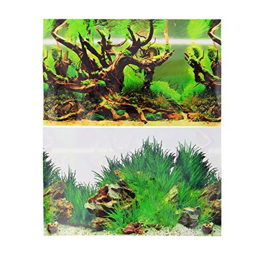 TEHAUX Aquarium-Hintergrundaufkleber, doppelseitig, selbstklebend, für Aquarien, Dekoration