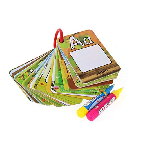 Lectura y escritura, Oyedens 26 Letters Children Water Painting Board Painted The Coloured Drawing Pattern