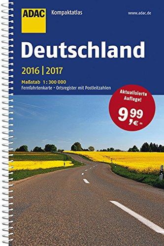 Preisvergleich Produktbild ADAC Kompaktatlas Deutschland 2016 / 2017 1:300 000 (ADAC Atlanten)