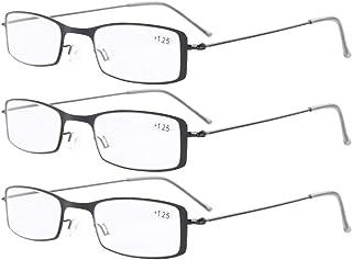Eyekepper Lot de 3 lunettes de vue/de lecture de meme couleur en acier inoxydable Negro +2.50