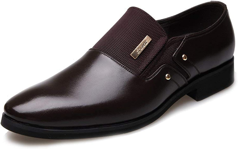 FuweiEncore 2018 Men's Business shoes Matte PU Leather & Canvas Splice Slip-on Breathable Lined Oxfords (Lacing Optional) (color  Lace BLK, Size  40 EU) (color   Brown, Size   44 EU)