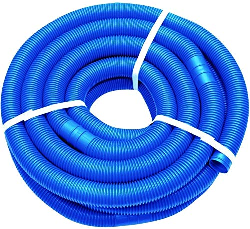 well2wellness® Poolschlauch 38mm - Blauer Schwimmbadschlauch - 10 Meter