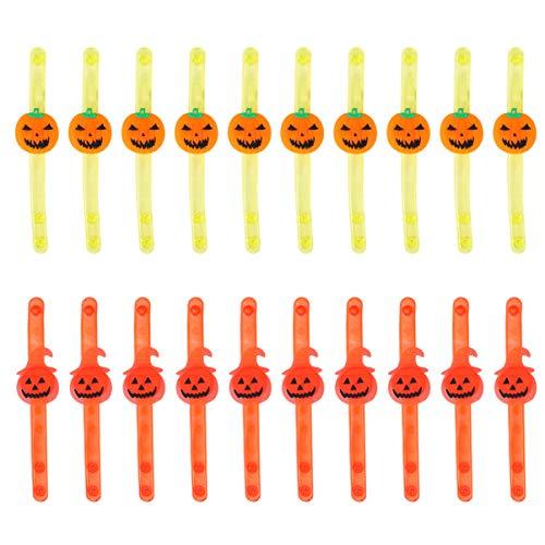 ibasenice Favores de Fiesta de Pulsera Luminosa de Halloween para Niños Pulseras Iluminadas Premios de Aula Caja Suministros de Fiesta Brillo en La Oscuridad Pulsera de Fiesta de Halloween