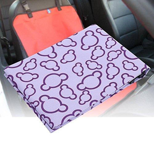 Gowind6 Hond Stoelhoes, waterdicht, antislip, wasbaar huisdier hangmat voor alle soorten auto's (paars)