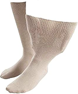 IOMI - Unisex Extra Wide Loose Cotton Rich Oedema Socks for Swollen Feet/Ankles