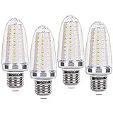 SanGlory E27 LED maíz bombilla, 14W Blanco Frío 6000K, 120W Incandescente Bombillas Equivalentes, 1580Lm, Candelabro Edison E27, No Regulable, Sin Parpadeo, AC 220-240V - 4 unidades
