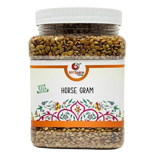 NY SPICE SHOP Horse Gram Lentils – 5 Pound Horse Gram – Indian Kulthi Beans – Muthira Seeds – Macrotyloma uniflorum –100% Natural, Vegan, Non-GMO, Bulk – Full of Fiber & Protein