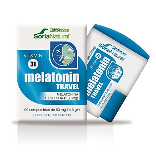 Soria Natural - Melatonina - 90 comprimidos 1,8 mg cada comprimido - Complemento alimenticio - Regulacion del sueño, insomnio - Jet-lag - Antiedad - MGDose