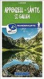 Appenzell - Säntis / St. Gallen 09 Wanderkarte 1:40 000 matt laminiert (Kümmerly+Frey Wanderkarten)