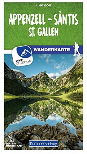 Appenzell - Säntis / St. Gallen 09 Wanderkarte 1:40 000 matt laminiert