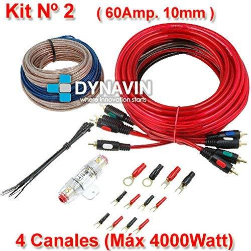 KIT 2 - Kit de instalación, juego de cables para instalar amplificadores de...