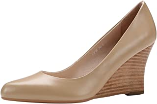 BeiaMina Women Simple Wedges Pumps Shoes
