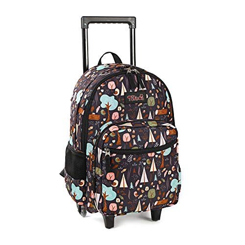 Rolling Backpack 18 inch Double Handle Wheeled Laptop Boys Girls Travel School Children Luggage Toddler Trip, INS