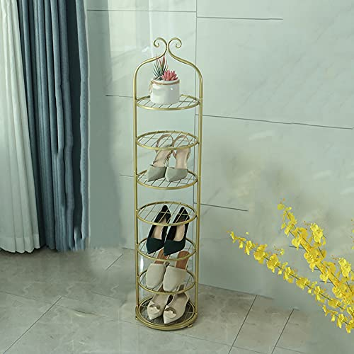 ZYFA Estante Zapatero, Estante para Zapatos Estructura Metal, Estantes Organizador Zapatos Estanteria para Entrada, Dormitorio, Sala de Estar (Color : Yellow, Size : 8-Tier)