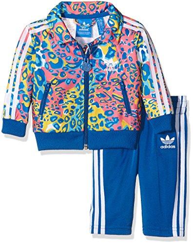 adidas Kinder Trainingsanzug Soccer Firebird, Multicolor/Eqt Blue S16, 68
