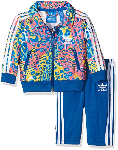 adidas Kinder Trainingsanzug Soccer Firebird, Multicolor/Eqt Blue S16, 68