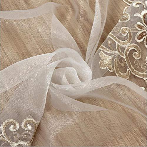 cortinas blancas transparentes salon