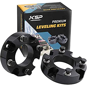 """KSP Lift Kit Front 2"""" Aircraft Billet Strut Spacers Leveling Lift Kit Fit for Tundra 2WD 2X2 4WD 4X4 2007-2019"""