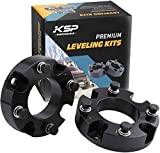 KSP Lift Kit Front 2' Aircraft Billet Strut Spacers Leveling Lift Kit Fit for Tundra 2WD 2X2 4WD 4X4 2007-2021