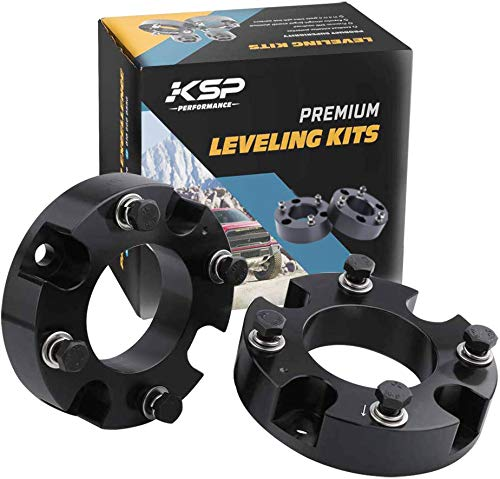KSP Lift Kit Front 2' Aircraft Billet Strut Spacers Leveling Lift Kit Fit for Tundra 2WD 2X2 4WD 4X4 2007-2019