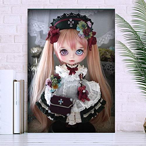 5d diamant schilderij kits volledige boor DIY lang haar pop 40x50cm Geen frame diamant schilderij kunst sets voor volwassenen home decor