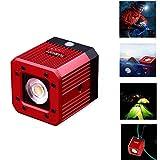 fotowelt Cube LED-Videolicht mit 1/4' 20 Schraubenloch tauch Videolicht Campingbeleuchtung Wasserdicht 20m für DSLR, Digitalkamera,DJI-Drohne und Action-Kamera, 8W (Rot)