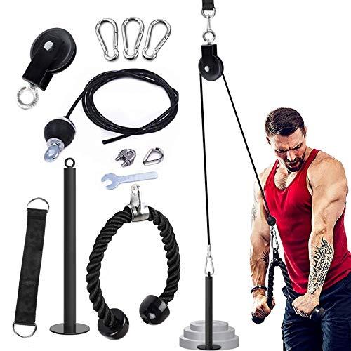 Palestre domestiche fai-da-te, sistema di pulegge per cavi fitness, accessori per l'allenamento dell'attrezzatura da palestra domestica, sistema di fissaggio della macchina del cavo della puleggia