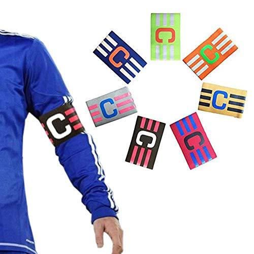 Soccer Fußball Captain Armband,Elastische Kapitänsbinde für Jugend und Erwachsene,Fußball Elastic Armband, Klettverschluss für verstellbare Größe, geeignet für mehrere Sportarten wie Fußball & Rugby