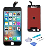 SANKA iPhone 6 Plus LCD Display Screen Replacement Repair Kit, Digitizer Retina Touch Screen Glass Frame Assembly for iPhone 6 Plus, 5.5 inches - Black (Free Tools Included)