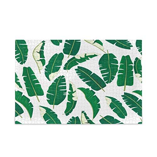 Puzzle 500 Piezas/Puzzle 1000 Piezas, Rompecabezas de Hojas de Plantas Tropicales para Adultos, 500 Piezas, Juegos de Rompecabezas educativos, Juguetes para familias, Adolescentes