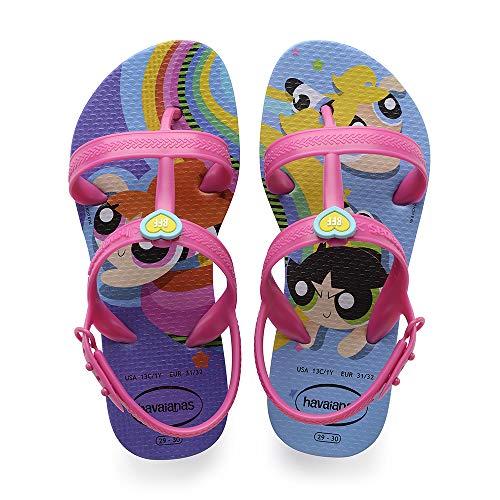 Havaianas Joy Powerpuff Girls, Sandalias de Talón Abierto para Niñas, Morado (Purple), 35/36 EU
