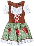 Leg Avenue Women's Plus Size Oktoberfest Costumes Dress, Multicolor, 1X-2X
