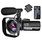 Videocamera 2.7 K Videocamera YouTube 30 MP 18X Full HD con microfono e paraluce