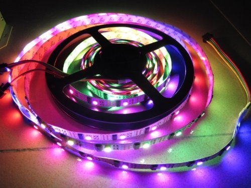 goeswell LED individuell ansteuerbaren WS2801 DC5 V 5 Meter 32led-32leds/M LED Pixel Strips no-wasserdicht
